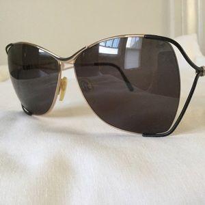 Vintage Gucci Large Sunglasses Metal Frame